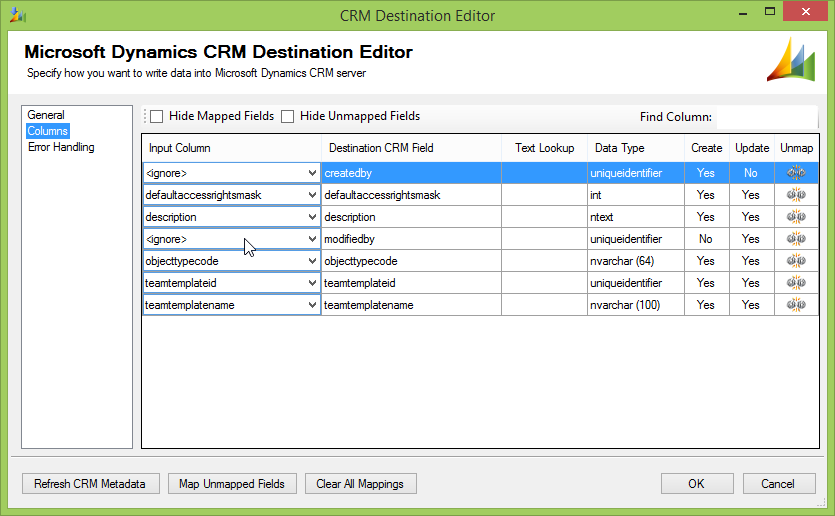 SSIS package for moving access team templates with KingswaySoft