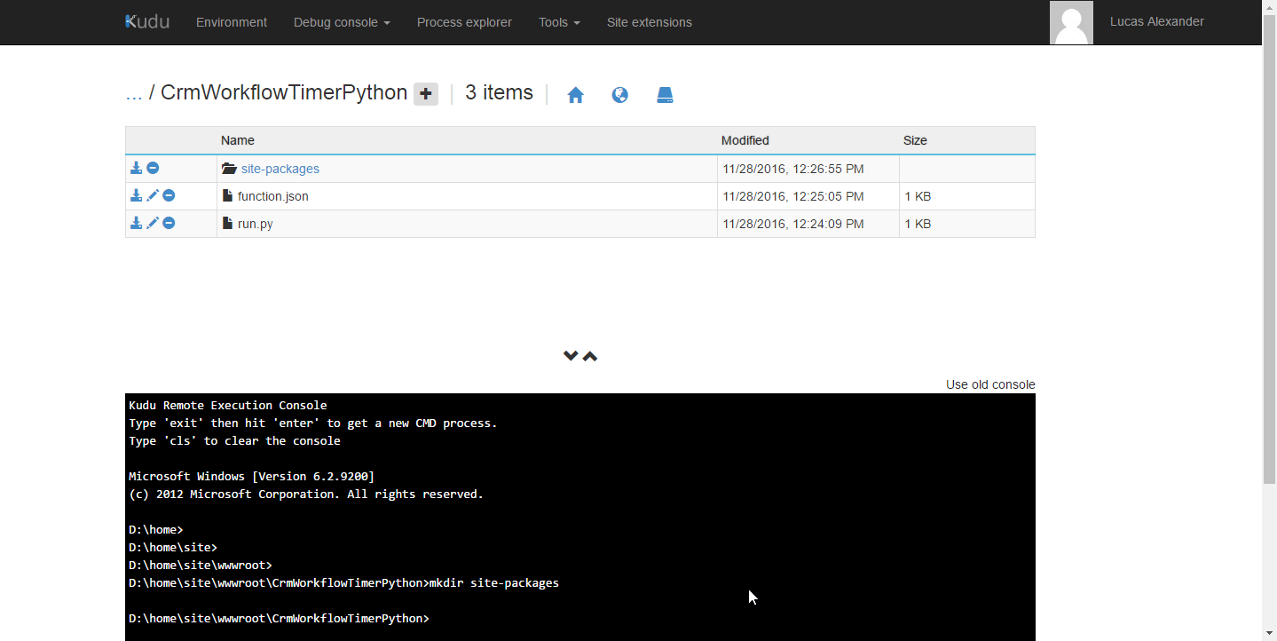 "Create ""site-packages"" directory"
