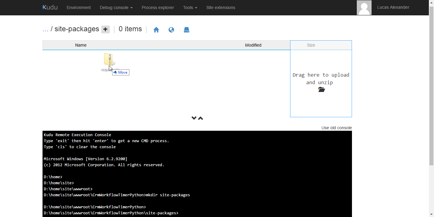 Upload requests.zip