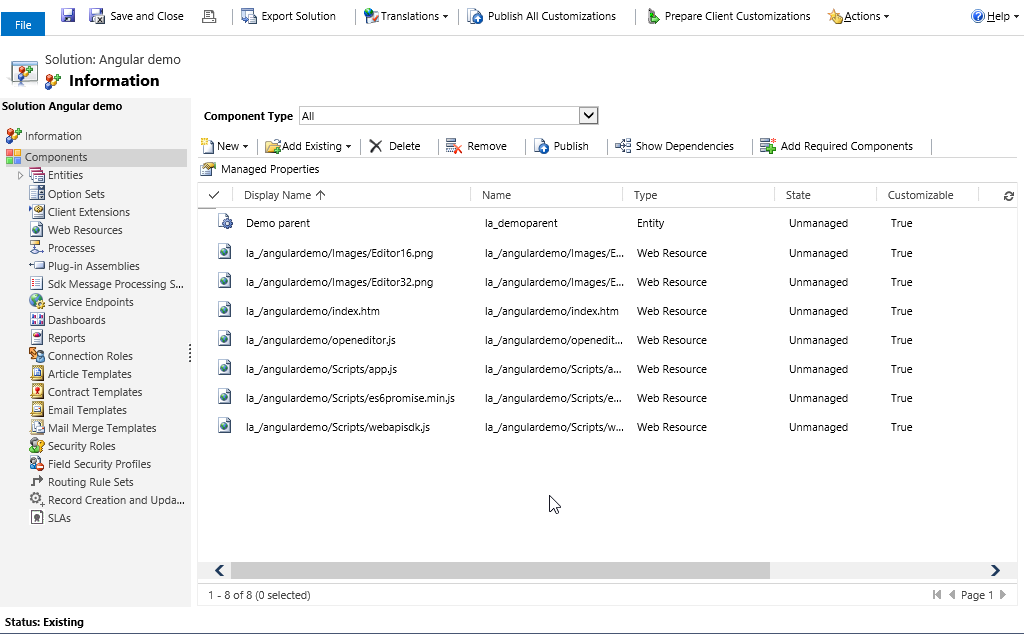 AngularJS demo solution for Dynamics CRM - Microsoft Dynamics CRM