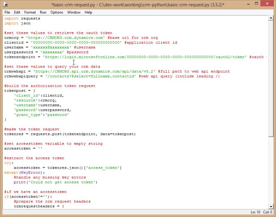 Dynamics 365 and Python integration using the Web API