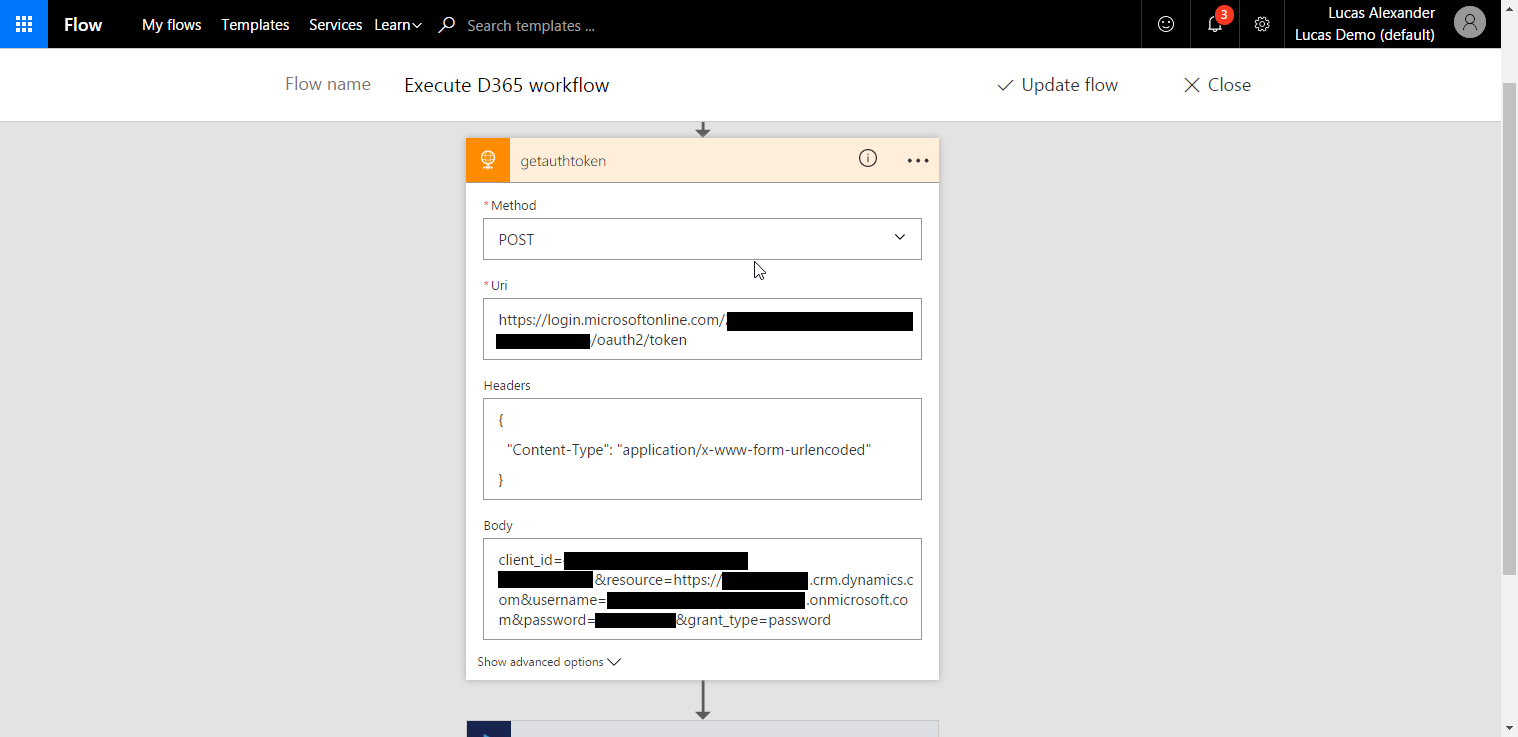 Executing Dynamics 365 workflows from Microsoft Flow