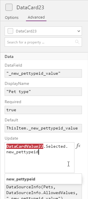 Working with Dynamics 365 lookup data in PowerApps