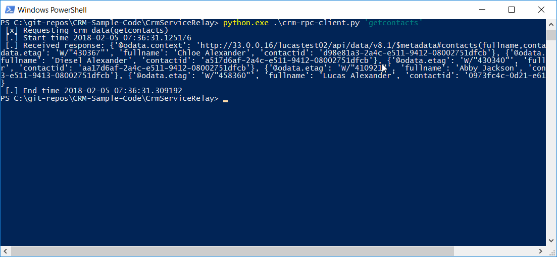 Building a simple service relay for Dynamics 365 CE with RabbitMQ and Python - part 3