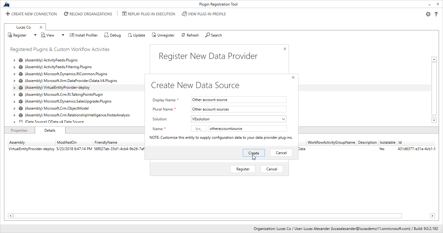Using Dynamics 365 virtual entities to show data from an