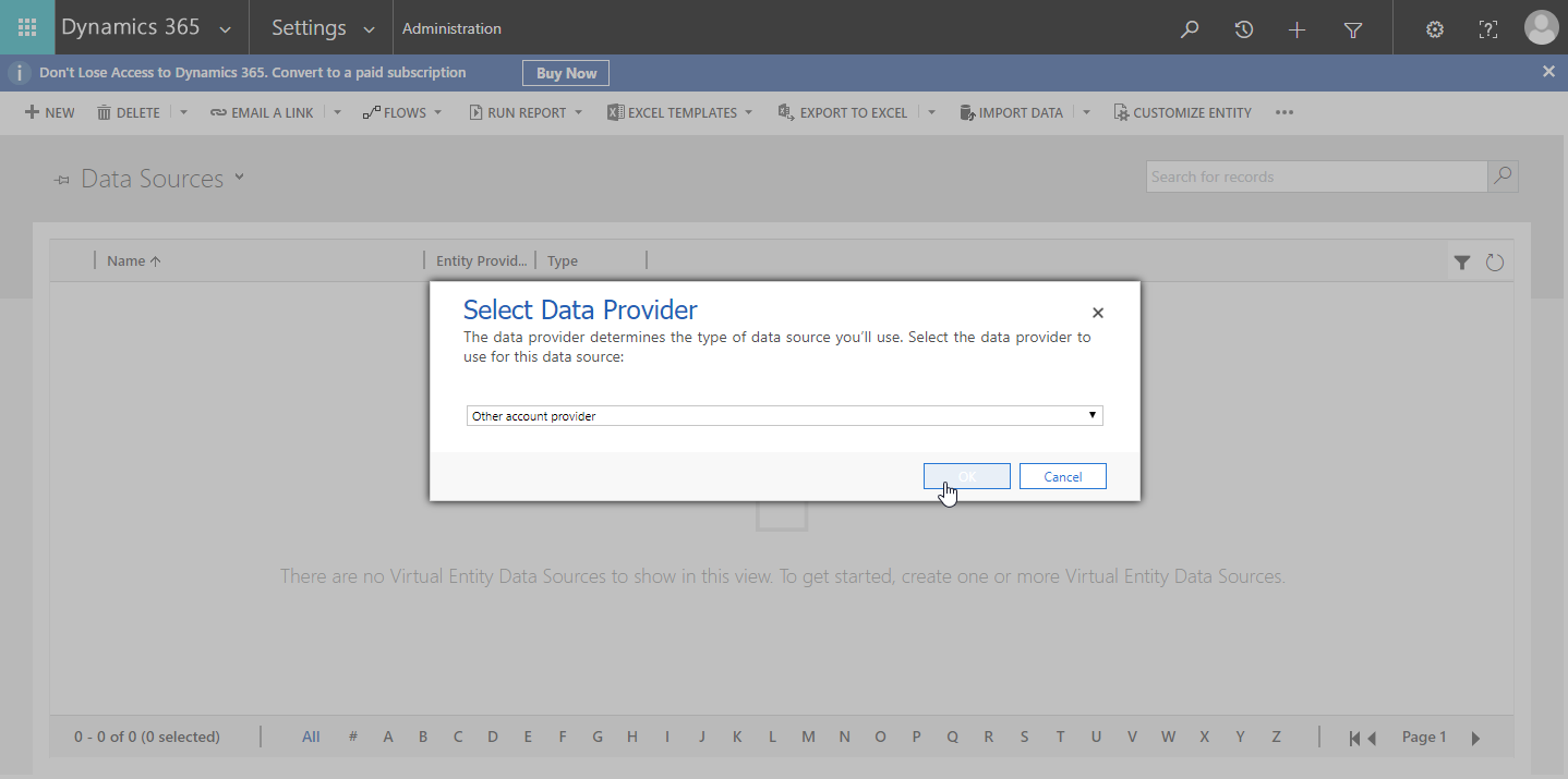 Selecting a data provider