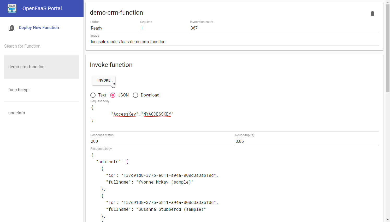 Building a custom Dynamics 365 data interface with OpenFaaS